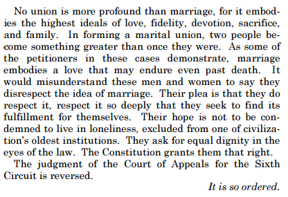 The Conclusion of the Supreme Court's Opinion